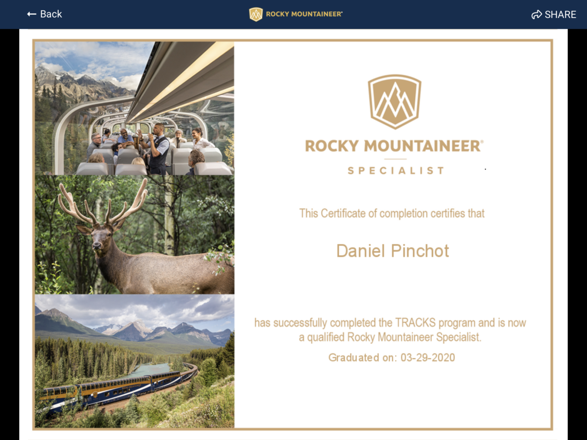 Rocky Mountain Specialist Program Diploma